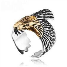 anello in acciaio inox aquila eagle fantasy uomo donna cosplay gioiello
