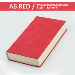 """Soft PU Leather Journal Notebook Lined Paper Writing Book Diary 360 Pages 4""""x7"""""""