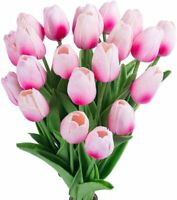 Artificial Tulips 22Pcs Latex Tulips Artificial Flowers Bouquet for Party Home