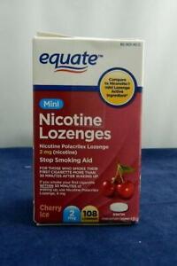 Equate MINI Cherry Ice Nicotine Lozenges - 2mg- 108 lozenges exp 3/23