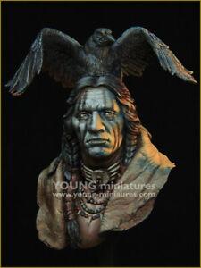 young miniatures raven sorcerer ww1 resin  bust kit  figure model  yh1862