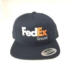 New FedEx Ground Snapback Hat  Yupoong Adjustable Cap FedEx Cap Dark Navy