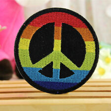 Embroidery Peace Sign Sew On / Iron On Patch Badge Bag Hat Jeans Applique