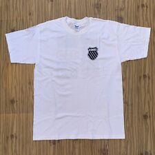 Kswiss Ultra Cotton Tennis Print White T Shirt Gildan Men Size Large USA British