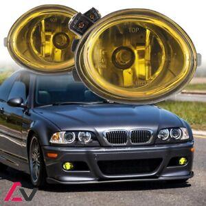 01-06 For BMW E46 Yellow Lens Pair Bumper Fog Light Lamp OE Replacement DOT Bulb