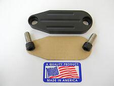 Flat Black Powder Coated Egr Delete - Chevrolet GM Big Block Carb Motors TPI