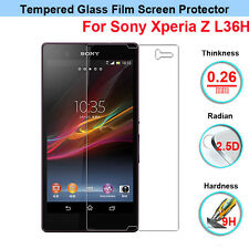 Genuine Tempered Glass Film Screen Guard Protector for Sony Xperia Z L36H C6603