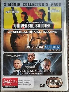 UNIVERSAL SOLDIER TRIPLE COLLECTOR'S PACK DVD (PAL, 2010) VGC