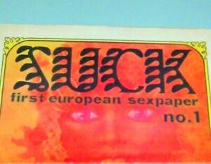 1969 SUCK #1 UNDERGROUND NEWSPAPER SEXUAL REVOLUTION HIPPIE EROTICA Psychedelic