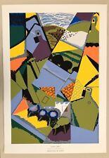 JUAN GRIS,'MAISONS A CERET,1913',RARE 1980's SERIGRAPH PRINT