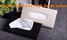 Car Sun Visor Artificial Leather Napkin Paper Tissue Boxes Case Holder Organizer