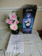 Vintage Premier Fibre Optic Flower floral  Lamp  Light sensory  Pink Peonies