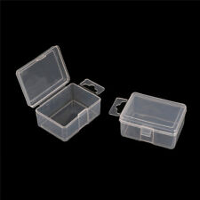 2pcs Small Plastic Storage Box Clear Multipurpose Parts ProductCase5.2*4*2.5cm&