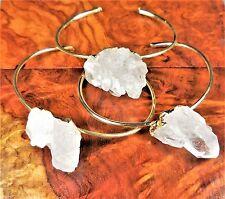 Druzy Quartz Bracelet Gold Bangle Gemstone Point G16 Healing Crystals And Stones
