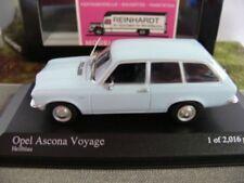 1/43 MINICHAMPS OPEL Ascona Voyage Bleu Clair 1970
