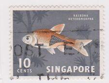 (K65-262) 1962 Singapore 10c Harlequin fish (P)