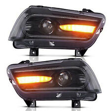 For Dodge Charger 2011-2014 Sequential Turn Indicator Headlights LED 2015 Model