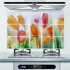 Waterproof Tulips Kitchen Oil-proof Removable Wall Stickers Vinyl Home Decor 850