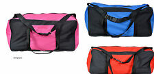 Heavy Duty Training Gym Sports Football Duffle Bag Holdall Size Blue, Pink & Red
