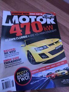 MOTOR Car magazine B JUNE 2006 XR5 TT GTC LS600H F430 350Z 550i XK PWR 300C SRT