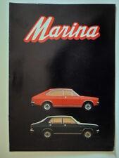 MORRIS MARINA RANGE orig 1971 Rare Export Market Brochure in English - BL 2841
