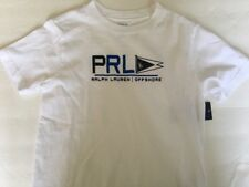 NEW POLO RALPH LAUREN BOY GRAPHIC T-SHIRT SIZE 6 YEARS 100% COTTON WHITE