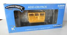 K-LINE SUPERSTREETS CITY TRACTION CO. SPEEDER ADD-ON.  LIONEL COMP. N/BOX  4-PIC