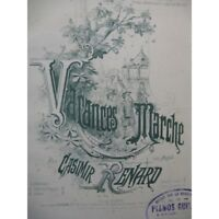 ZORRO Casimir Vacances op de mercado 61 Piano 4 manos XIX partitura sheet music