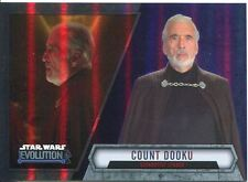 Star Wars Evolution 2016 Purple Parallel Card #97 Count Dooku - Separatist Lead
