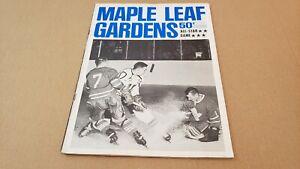 OCTOBER 10 1964 NHL ALL STAR GAME MAPLE LEAF GARDENS TORONTO PROGRAM LEAFS RARE