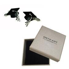 Mens Graduation Hat Graduate Cufflinks & Gift Box By Onyx Art