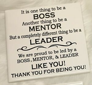Boss Appreciation Gift / Gift from Group / Boss Gift / Mentor Gift / Manager Gft
