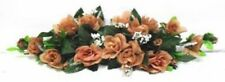 Rose Swag Coffee Brown Wedding Table Centerpiece Silk Flowers Arch Gazebo Decor