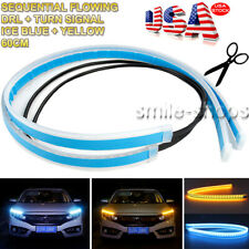 60CM Switchback LED Turn Signal Daytime Running Light Strip Sequential Slim USA