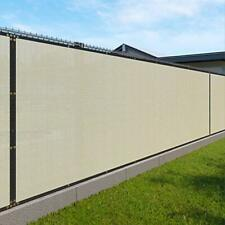 4' x 50' Privacy Fence Screen in Beige Tan with Brass Grommet 85% Blockage Wi...