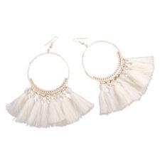 Women Vintage Bohemian Boho Tassel Colorful Crystal Jewelry Dangle Stud Earrings