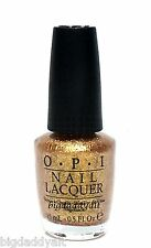 New OPI Nail Polish GOLDENEYE Golden Eye James Bond Skyfall 007 Gold Shimmer