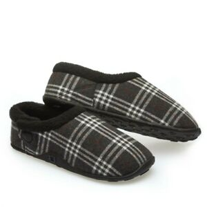 Homeys Mens Lewis Grey and White Slippers NEW