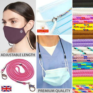 Face Mask Holder Lanyard Neck Chain Cord String Retainer Necklace Adults Kids UK