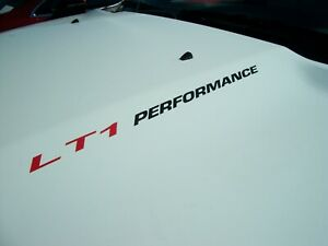 LT1 PERFORMANCE (pair) Hood stickers decals Chevy Camaro RS SS Corvette