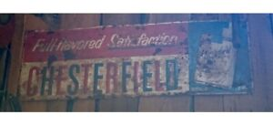 vintage chesterfield cigarette sign Authentic!