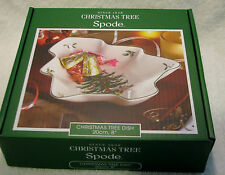 """SPODE CHRISTMAS TREE 8"""" CHRISTMAS TREE Tree-Shaped Dish - NIB (MSRP=$42.00)"""