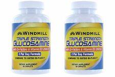 2 Pack Windmill Windmill Triple Strength Glucosamine Tablets, 120 Caplets