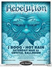 REBELUTION /J BOOG /HOT RAIN 2013 PORTLAND CONCERT TOUR POSTER - Reggae, Roots