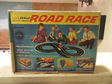 Eldon deluxe ROAD RACE slot car group # 9805 car track box papers more