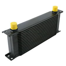 For Car Truck 16-Row AN-10AN Engine Transmission Racing Oil Cooler British Black