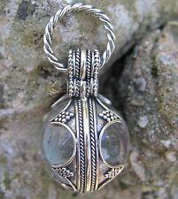 Original Reproduktion Fund Gotland Bergkristall Gr.S Hand geschmiedet 925 Silber
