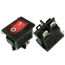 Rocker Switch On-(Off) DPST 2Circuits 6A/250VAC Red/Black Light:230VAC 13x19mm