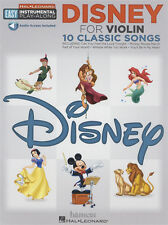 Disney for Violin Easy Instrumental Play-Along Music Book & Audio Download