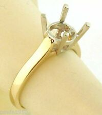 2CT SOLITAIRE ENGAGEMENT RING MOUNTING 14K YELLOW GOLD FOR 8MM GEM STONE